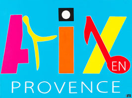 Série Aix-en-Provence - Typo Bleu