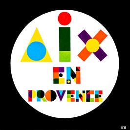 Série Aix-en-Provence - Typo  VASARELY