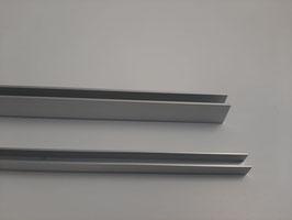 U-Profil eloxiert  - 100 cm für Vorsatzgitter