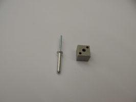 Blockverbinder inkl. Niete oder Schraube