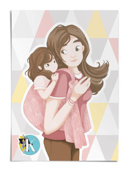 "Poster Motherlove ""toddler"""