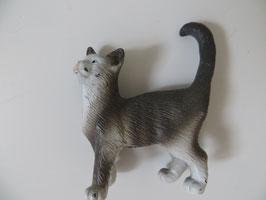 Schleich Katze grau/weiß 1997