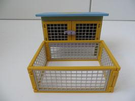 Schleich Kaninchenstall Sonderedition gelb 2006