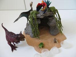 Schleich Dinosaurierset mit Höhle