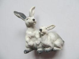 Schleich Hasenpaar weiß, 1988-93