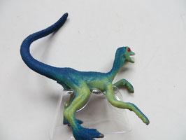 Schleich kleiner Velociraptor grün/blau