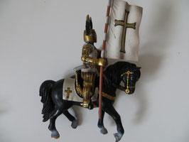 Schleich Fahnenträger auf Pferd Kreuzritter, 2003