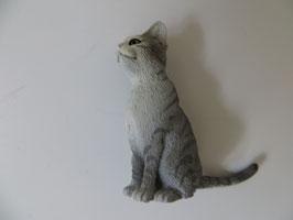 Schleich Katze sitzend, grau 2014