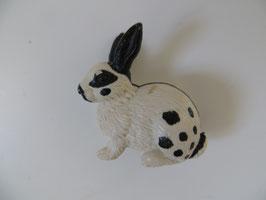 Schleich Kaninchen schwarz weiß, sitzend