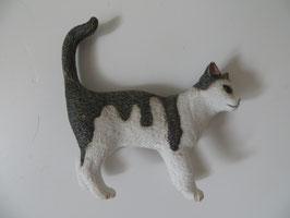 Schleich Katze grau weiß
