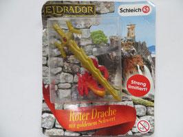 Eldrador Roter Drache mit goldenem Schwert