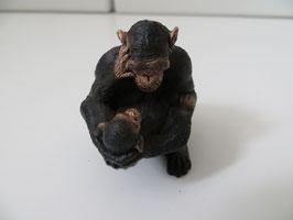 Schleich Schimpanse Weibchen mit Jungen 2012
