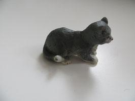 Schleich Katze grau, liegend, 2004