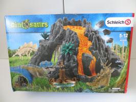Schleich Riesenvulkan mit T-Rex in OVP