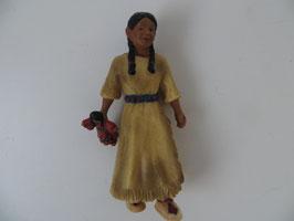 Schleich Sioux Mädchen mit Puppe, 2005