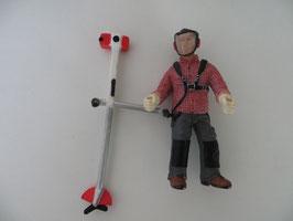 Schleich Arbeiter mit Motorsense 2010