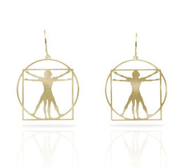 Ohrring VITRUVIAN MAN in Gold