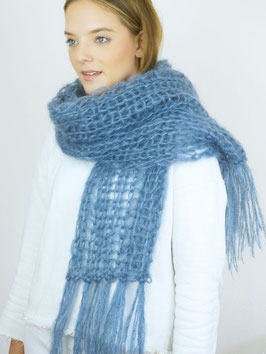 """SILKY SUPERSCARF"" XXL SCHAL, STRICKSET"