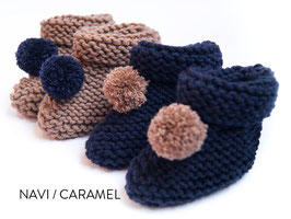 POMPOM BABYBOOTIES, STRICKSET GR. 4-8 Monate