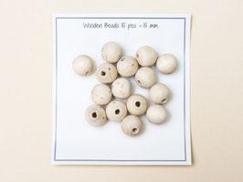 Holzperlen 15 mm / 15 Stück