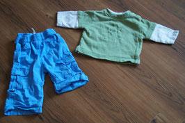 JB251 Kombi 62/68 blaue Hose und Pulli grün Doppellage