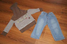 ME378 Kombi Jeans und Kapuzenpulli 98 PJE