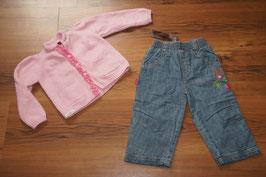 MD958 catimini *neue Jeans* 80 und WollStrickjacke
