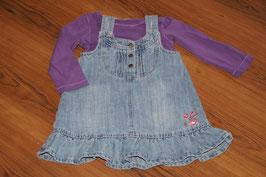 MD862 Kleidchenkombi lila Jeans 86/92