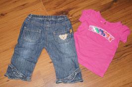 M95B Steiff Jeans und Shirt geschenkt 68