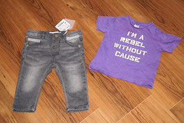 JB372 Zara NEU Kombi Jeans und Shirt 68