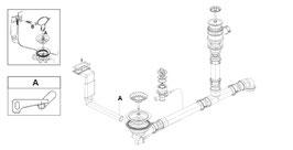 "Ablaufgarnitur 3,5"" Drehexzenter / Spülencenter neu li-+re. / 72100177"