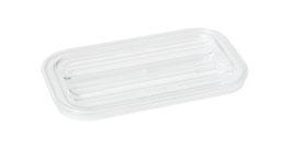 Polycarbonat-Flachdeckel K 141 transparent / 84200108
