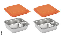 Rieber store+more 2er Set, Deckel orange / 72104005