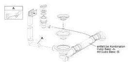 """Ablaufgarnitur 3,5"""" Drehexzenter für waterstation® cubic 600 light / 72100197"""