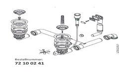 """Ablaufgarnitur 3,5"""" Druckknopfexzenter für Linea 150 mit verd. Überlauf /  72100241"""