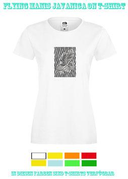 Flying Manis Javanica on T-Shirt, tailliert