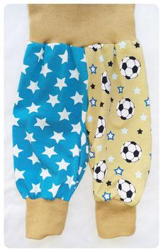 Pumphose Fußball & Sterne Größe 62