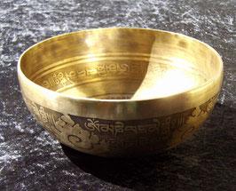 Bol tibétain gravé pour massages localisés 18,5 cm-20 cm