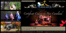 Certificat-cadeau Cavaland d'une valeur de 50$