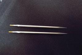 "1 Paar austauschbare Nadelspitzen 4"" sharp"