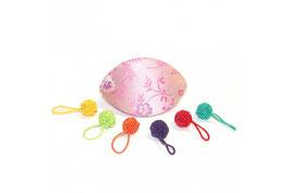 HiyaHiya - Yarn Ball - Maschenmarkierer mit Case