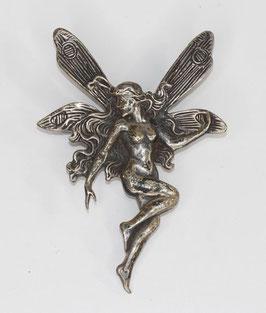 Zilveren broche art nouveau