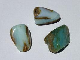 Opale des Andes bleue en pierres roulées
