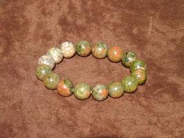 Bracelets en unakite 12 mm