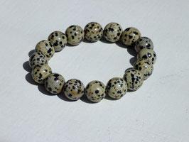 Bracelets en jaspe dalmatien 12 mm