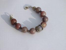 Bracelet en agate indienne (BV077)