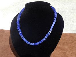 Collier en lapis-lazuli (cubes) (BV049)