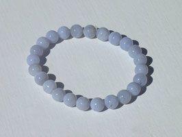 Bracelets en calcédoine bleue
