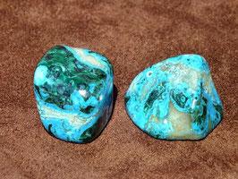 Chrysocolle-malachite en pierres roulées