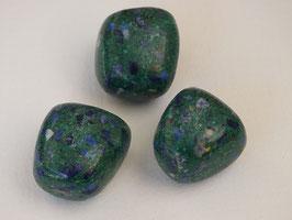 Azurite-malachite en pierres roulées